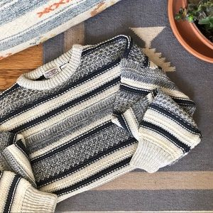 2/$30 Vintage Oversize Cozy Knit Striped Sweater